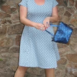 STERNO bleue kurz Kleid 894 727